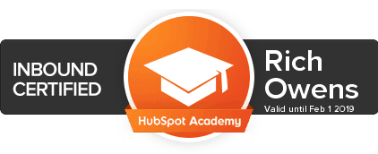 First Five Eight HubSpot Inbound Marketing Certified